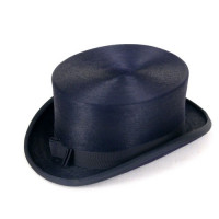 Christys':Chapeau de dressage 4 1/4 '' Navy satiné