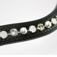 Frontal Swarovski avec perle et cristal. (Otto Schumacher)