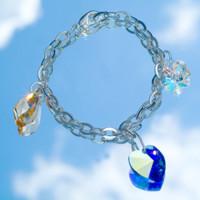 Otto Schumacher bracelet Swarovski 3 pendentifs