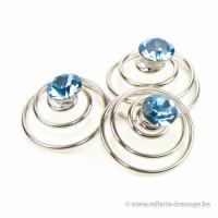 Spirale Swarovski Donuts: Aquamarine