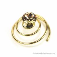 Spirale Swarovski Donuts: Gold