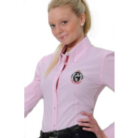 Spooks: Chemise Rose lignée longues manches