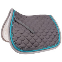 Tapis de selle dressage bi-color